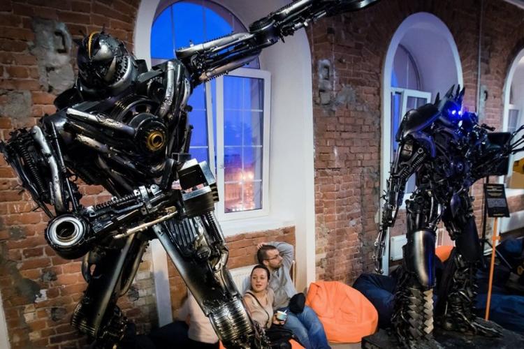 roboti ratnici - ilustracija