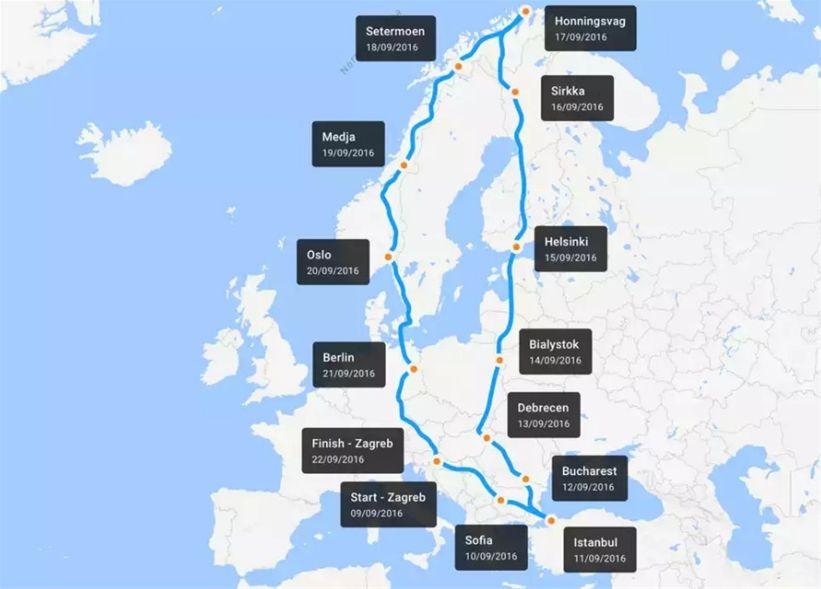 Ruta kojom ce se voziti projekat Tesla Electric Connection